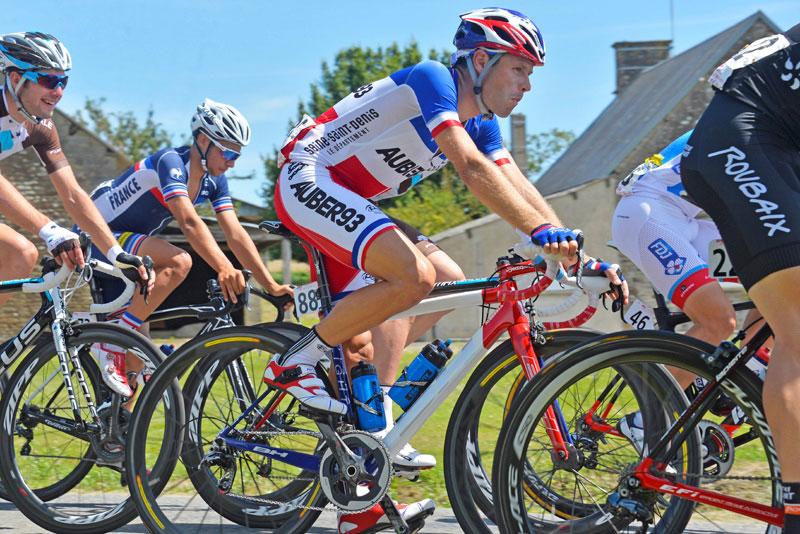 Le champion de France Steven Tronet