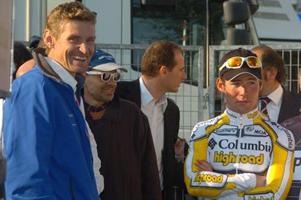 Rolf Aldag avec Mark Cavendish