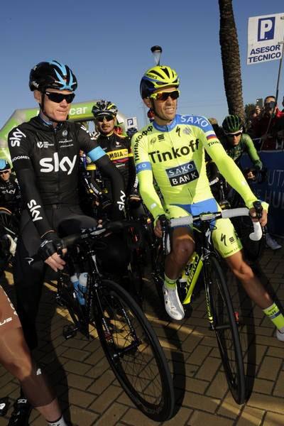 Chris Froome et Alberto Contador au départ de la Ruta del Sol