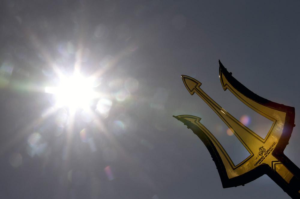 Le trophée de Tirreno-Adriatico