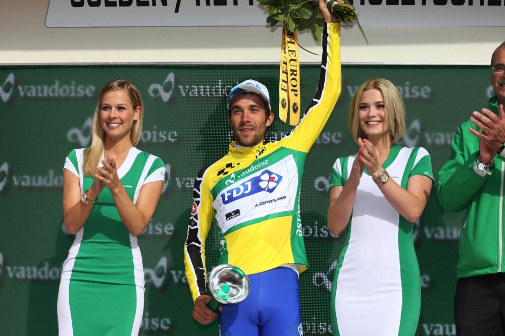 Thibaut Pinot, maillot jaune du Tour de Suisse