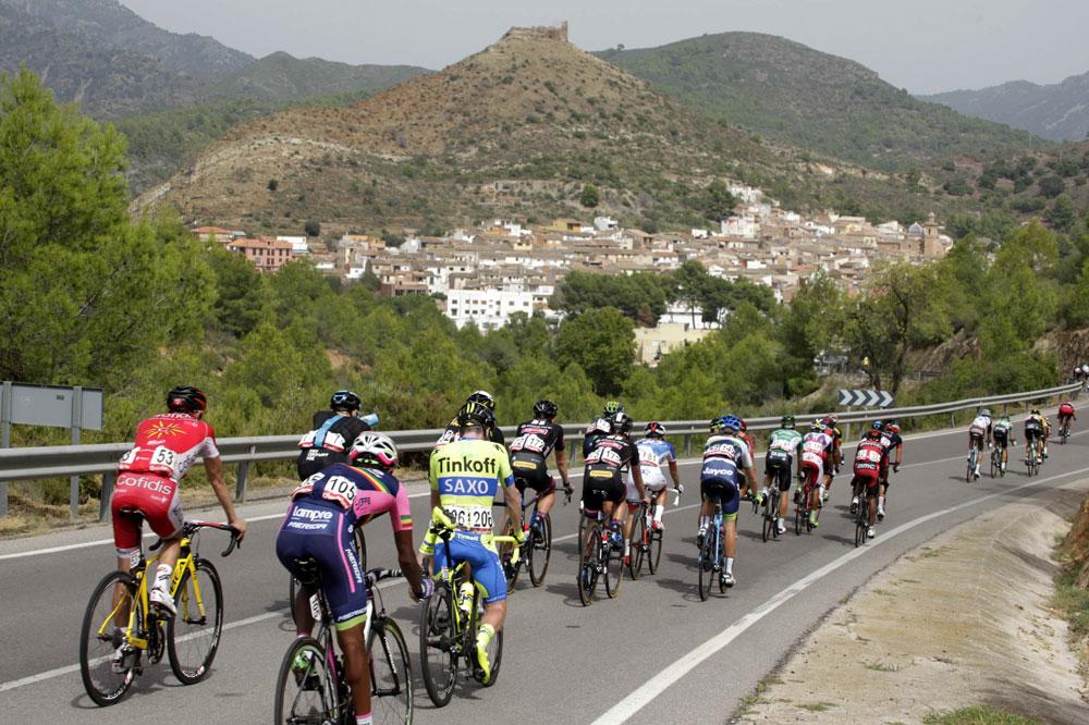 Le peloton de la Vuelta en vadrouille