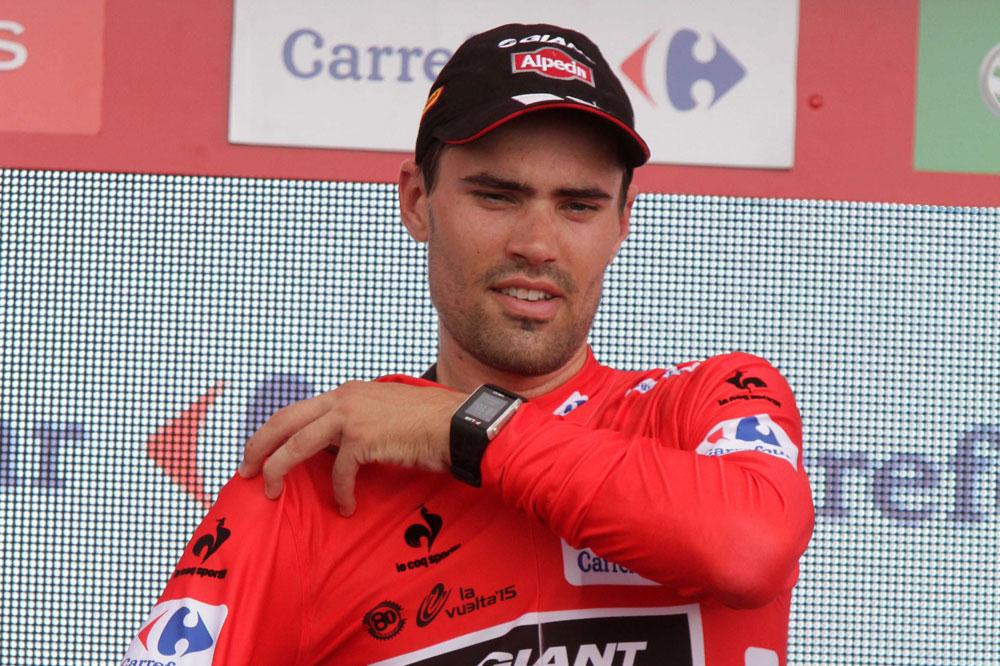 Tom Dumoulin en rouge