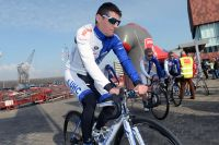 Alessandro Bazzana se présente au départ du GP de l'Escaut