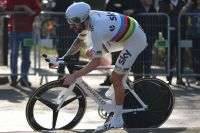 Bradley Wiggins dans son maillot arc-en-ciel