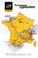 La carte du Tour de France 2016
