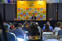 Chris Froome donne sa conférence de presse