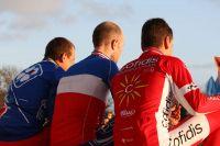 Le podium bleu-blanc-rouge des Championnats de France