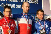 Clément Venturini, Clément Lhotellerie et Francis Mourey, le podium des Championnats de France
