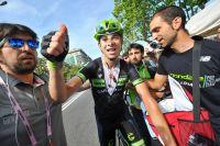 Davide Formolo tout sourire après l'arrivée