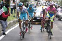 Fabio Aru attaque, Alberto Contador résiste