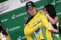 Geraint Thomas endosse le premier maillot jaune du Tour de Romandie