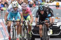 Fabio Aru, Alberto Contador et Richie Porte au coude-à-coude à Campitello Matese