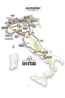 La carte du 98ème Tour d'Italie