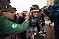 Alberto Contador encouragé