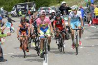 Alberto Contador contrôle ses adversaires dans la montée de Campitello Matese