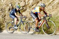 Igor Anton dans la roue du champion de Colombie Miguel-Angel Rubiano