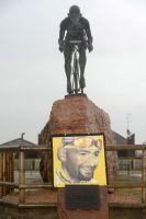 Le monument consacré à la mémoire de Marco Pantani à Cesenatico