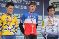 Le podium des Championnats de France Cadets : Nicolas Guillemin, Maxime Bonsergent et Jérémy Montauban