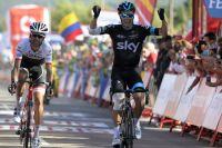 Nicolas Roche bat Haimar Zubeldia au sprint pour remporter la 18ème étape