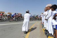 Les jeunes spectateurs du Tour d'Oman