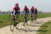 L'équipe Lampre-Merida autour de Filippo Pozzato avec Manuele Mori, Maximiliano Richeze et Niccolo Bonifazio