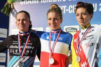 Le podium des Championnats de France Dames