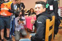 Domenico Pozzovivo en visite sur le Giro