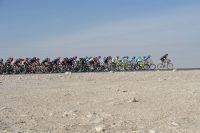 Un peloton dans le désert du Moyen-Orient
