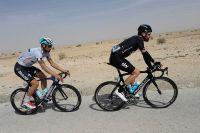 Tom Boonen dans la roue de Bradley Wiggins