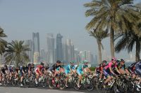 Le peloton dans Doha