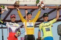 Le podium du Tour du Qatar