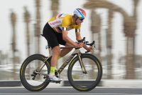 Alexander Kristoff dans le maillot or du Tour du Qatar