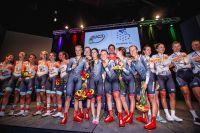 Les filles sur le podium du Mondial