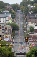 Le peloton dévale les rues de Richmond