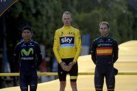 Le podium du Tour de France 2015