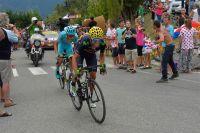 Alejandro Valverde lutte dans la montée vers Pra-Loup