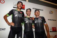 Brice Feillu, Eduardo Sepulveda et Pierrick Fédrigo au départ du Tour