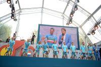 L'équipe Astana et le tenant du titre Vincenzo Nibali