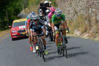 Rigoberto Uran et Peter Sagan en tête de course