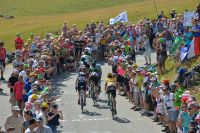 La foule le long des routes du Tour de France