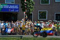 La foule le long du chrono d'Utrecht au passage de Gorka Izagirre