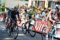Alberto Contador grimace dans le mur de Huy