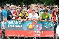 La foule au Grand Départ d'Utrecht