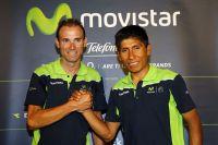 Alejandro Valverde et Nairo Quintana