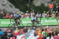 Richie Porte recolle à la roue de Nairo Quintana