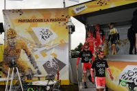 Nacer Bouhanni à la tête de l'équipe Cofidis sur le Tour de France