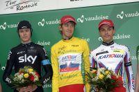 Le podium final du Tour de Romandie