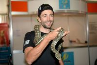 Moreno Moser ne craint pas les reptiles
