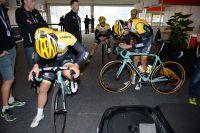 Les coureurs du Team LottoNL-Jumbo ont déjà la tête dans le guidon